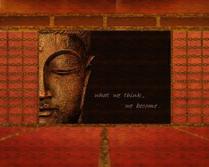 Steampunk Photo-manipulation of a Zen quote image that fit the thoughts, concept, and feel for today.