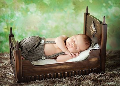 Not much for baby pics, but this bed was too perfect.