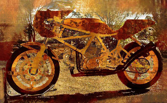 Another Steampunk Ducati, very different vintage model and Steampunk styling. Obviously, I like motorcycles and supercars, Ducati is a favorite - that and most vintage European bikes.