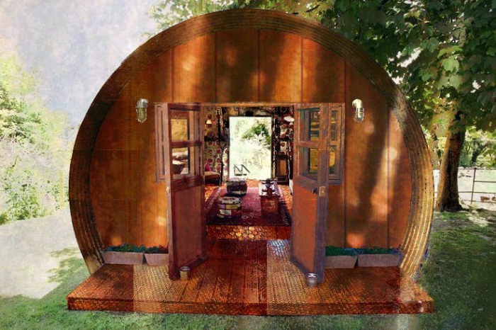 Copper tube house