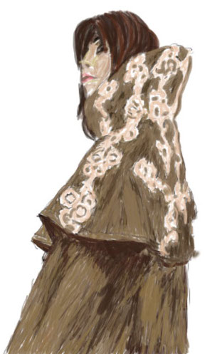 Cloaked Woman done on Wacom