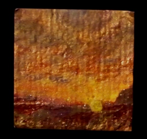 unmounted painting for pendant
