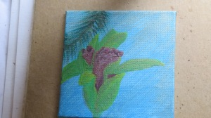 Acrylic orchid in process